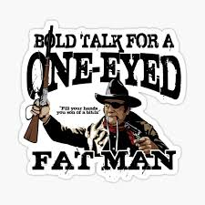 One Eyed Fat Man Sticker By Sykographx Redbubble