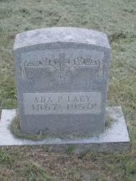 Ada Parker Lacy (1867-1950) - Find A Grave Memorial