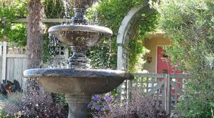 style your backyard with fountains