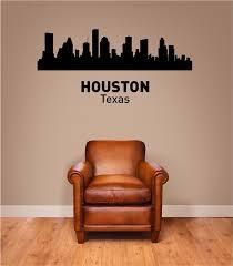 Houston Texas City Skyline Vinyl Wall Art Decal Sticker
