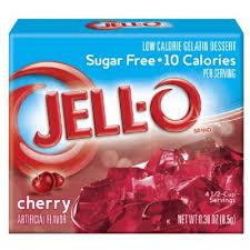 jello sugar free cherry american