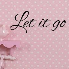 Let It Go Decal Wall Vinyl Sticker Family Kids Room Frozen Etsy