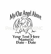 Decals Stickers Vinyl Art Home Garden Personalized In Memory Angel Wings Child 1 Vinyl Decal Wall Car Truck Window Adrp Fournitures Fr