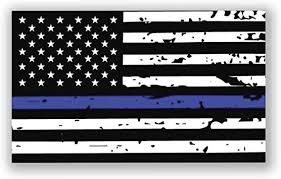 Amazon Com Cwi Thin Blue Line Tattered Flag Vinyl Decal Sticker 2 Pack 5 Inch By 3 Inch Premium Quality Printed Vinyl Sticker Ni424 Automotive