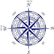 46 Off Dsu Compass Nautical Compass Rose Wall Art Stickers Decals Home Diy Decoration Wall Mural Removable Bedroom Decor Wall D Rosegal