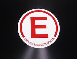 Car Decal Sticker Fire Suppression System Sticker Hachi Auto
