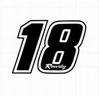 Kyle Busch Number 18 Rowdy Nation Joe Gibbs Window Deca