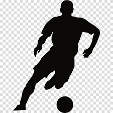 Football Silhouette Wall Decal Football Player Basketball Player Standing Joint Soccer Kick Transparent Background Png Clipart Hiclipart