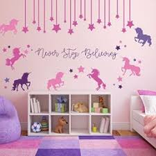 Unicorn Wall Decals Vinyl Decals For Little Girls Tweens And Teenagers
