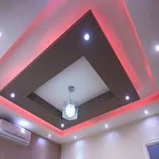 white gyproc fancy gypsum false ceiling