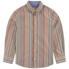Paul Smith Junior Multicolored 100% Cotton Machine washable at 30°C. Stripe  print shirt | Melijoe.com