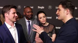 """Matt Lanter, Malcom Barrett & Abigail Spencer of """"Timeless"""" at the ..."""