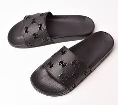 gucci men sandals gucci rubber gg slide