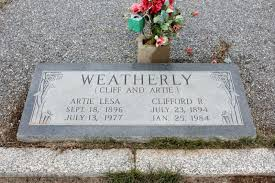 Artie Lesa Smith Weatherly (1896-1977) - Find A Grave Memorial