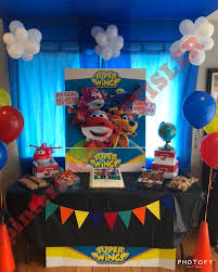 Super Wings Airport Airplane Third Birthday Party Theme