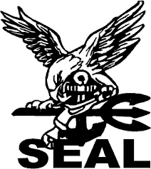 Patriot Navy Seal 6 Black Vinyl Decal Sticker Laptop Wall Car Window Ipad Etc