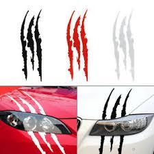 Monster Claw Scratch Car Sticker Scar Vinyl Decal Hood Headlight Decoration Ebay