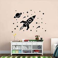 Amazon Com Vinyl Wall Art Decal Outer Space Set 26 X 22 5 Trendy Motivational Good Vibes Cute Quote Sticker For Home Bedroom Kids Room Playroom Nursery Daycare School Classroom Decor
