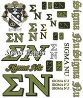 Sigma Nu Greek Stickers And Magnets At Personalchecksusa Com