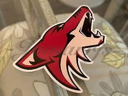 Arizona Coyotes Hockey Team Logo Nhl Sticker Decal Vinyl Arizonacoyotes Ebay