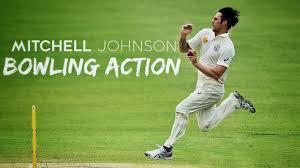 Mitchell Johnson Bowling Action (HD)   Sport Blaster - YouTube