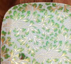 Two Color Fern Pattern Ceramic Decals Food Safe Custom Ceramic Decals Glass Fusing Decals Ceramic Luster Decals