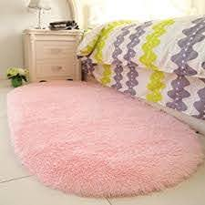 Amazon Com Yoh Fluffy Pink Area Rugs For Bedroom Girls Rooms Kids Rooms Nursery Decor Mats 2 6 X5 3 Home Kitchen