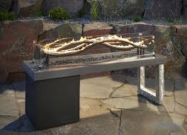the wave fire pit table