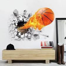 3d Basketball Wall Decal Ondecal