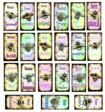 Motivational Bee Sayings Ceramic Decals Enamel Decal Fusible Decal Glass Fusing Decal Waterslide Decal 70006 Xpression Decals