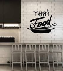 Amazon Com Vinyl Wall Decal Thai Food Cuisine Fast Food Kitchen Window Art Stickers Mural Large Decor Ig5510 Home Kitchen