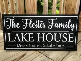 image 0 personalized lake house signs