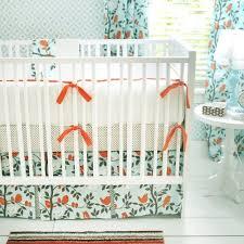 blue and orange nursery crib sets