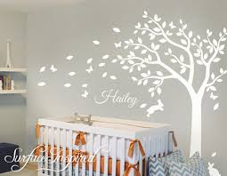 Nursery Wall Decals White Tree Wall Decal Large Tree Decal Etsy Nursery Wall Decals Tree Nursery Wall Decals Kids Wall Decals