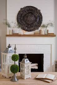shiplap wall above fireplace neutral