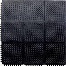 interlocking rubber checker plate floor