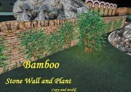 Second Life Marketplace Privacy Screen With Bamboo And Plant