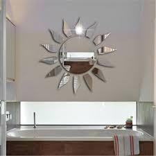 Sun Mirror Wall Sticker Modern Acrylic Mural Wallpaper Decals Home Decor Living Room Creative Mirror Mural Makeup Spiegel Leather Bag