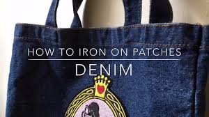 How To Iron On A Patch To Denim Youtube