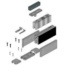 glass door hydraulic floor closer with