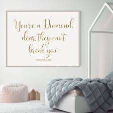Youre A Diamond Dear Quote Wall Decals For Teen Girls Vinyl Decor Customvinyldecor Com