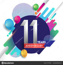 Years Anniversary Logo Colorful Abstract Background Vector Design