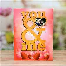 you and me valentine personalized card