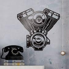 Wall Decal Motor Evolution Engine Harley Davidson Muraldecal Com