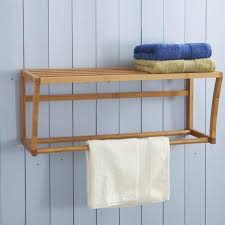 bamboo wall mounted towel rack dunelm