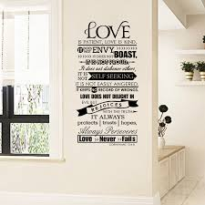 Bible Wall Stickers Love Is Patient Scripture Quote Wall Decal Bible Verses Wall Art Decor Decor Wall Sticker Decorative Tile Stickerssticker Generator Aliexpress