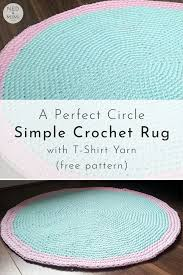 crochet t shirt yarn rug free pattern