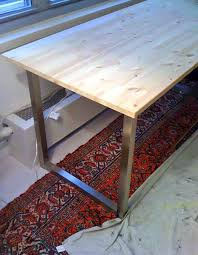 easy diy desk with ikea table tops and