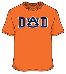 Auburn Dad S S T Shirt On Orange Paws T Shirt Shirts T Shirt