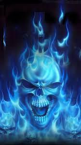 skull pictures skull wallpaper blue